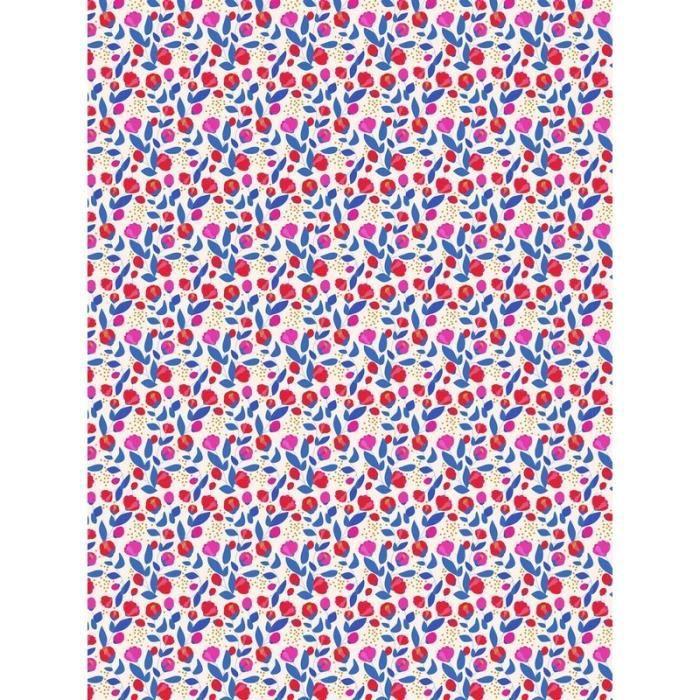 PAPIER CRÉATIF Feuille decopatch n°789, Fleurs rouges et détails
