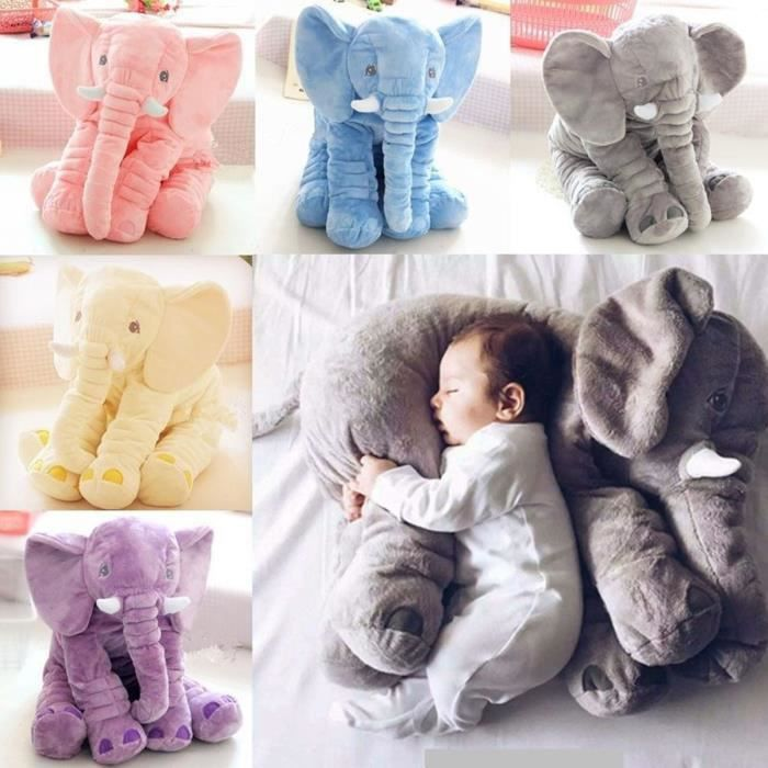 jouet l phant jumbo 60cm animal enfants en peluche. Black Bedroom Furniture Sets. Home Design Ideas