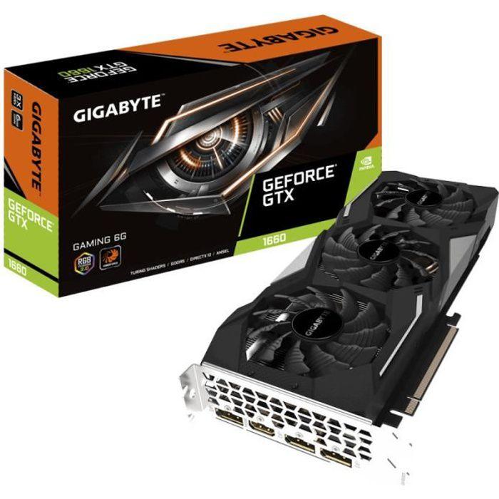 CARTE GRAPHIQUE INTERNE GIGABYTE Carte graphique GeForce GTX 1660 GAMING 6