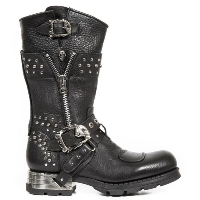 Bottes cuir New Rock M.MR022-S1 HUUy2Sfz