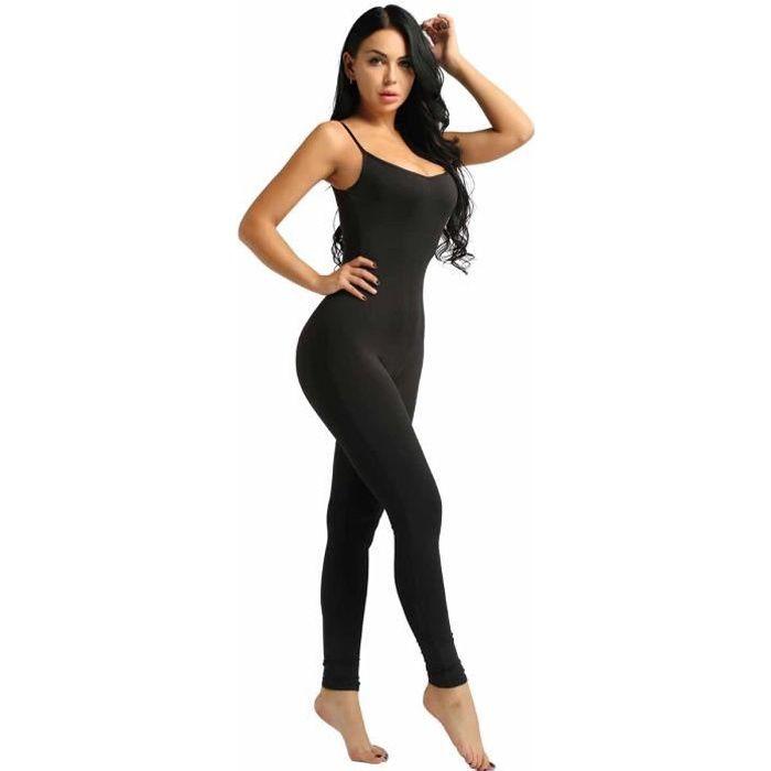 Body Femme Sexy Collant Combinaison Legging Bodysuit Catsuit Shapewear Unitard S Xl Noir Noir Achat Vente Salopette Soldes Cdiscount