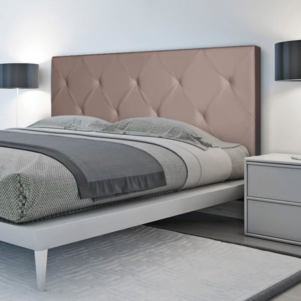 t te de lit capitonn e pu taupe 160x60cm imprim 14 boutons achat vente t te de lit t te de. Black Bedroom Furniture Sets. Home Design Ideas