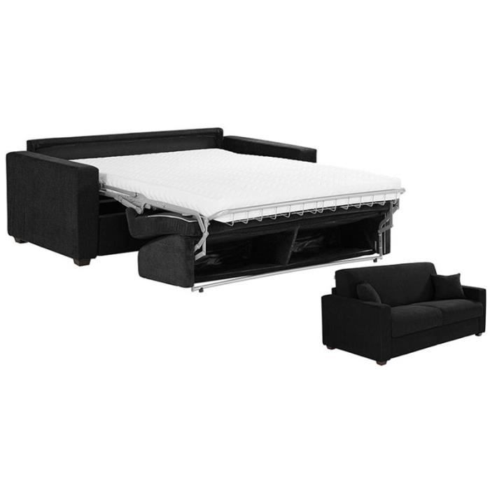 canap lit matelas bultex 120x190 tissu maya achat. Black Bedroom Furniture Sets. Home Design Ideas
