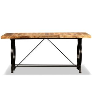 table a manger en bois brut achat vente pas cher. Black Bedroom Furniture Sets. Home Design Ideas
