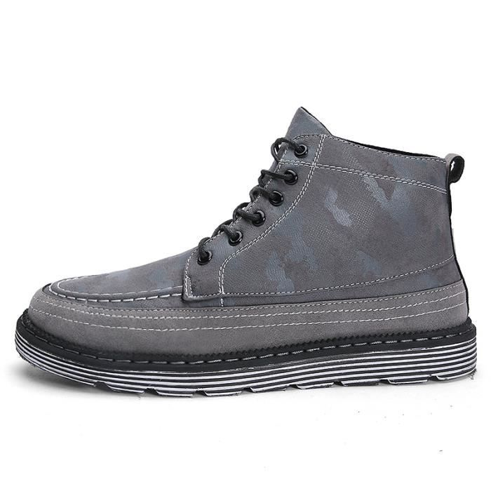 Skate Chaussure Gris Chaussures Mode Shoes Cuir Montantes Homme Basket E7zEOYqw
