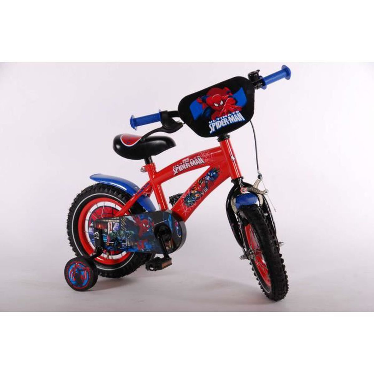bicyclette enfant spider man roues de 12 pouces avec rouge. Black Bedroom Furniture Sets. Home Design Ideas