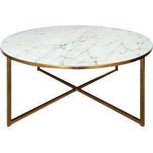 TABLE BASSE ALISMA Table basse ronde style contemporain en chr
