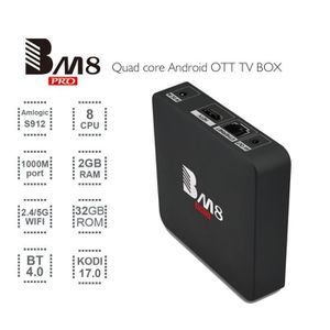 BOX MULTIMEDIA BM8 PRO S912 Android 6.0 TV Box Octa -Core 2 Go DD