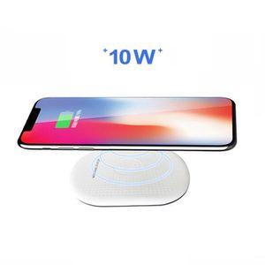 CHARGEUR TÉLÉPHONE Qi Chargeur induction sans fil pour iPhone X XR XS