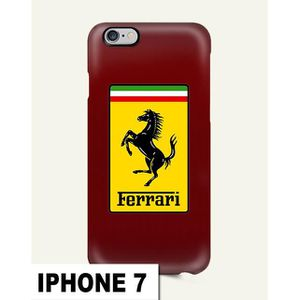 coque iphone 7 ferrari jaune