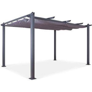 TONNELLE - BARNUM Tonnelle-Pergola aluminium 3x4m toile coulissante