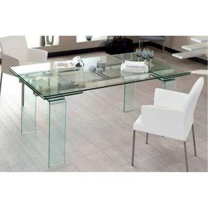 TABLE À MANGER SEULE Table design extensible VITRO.