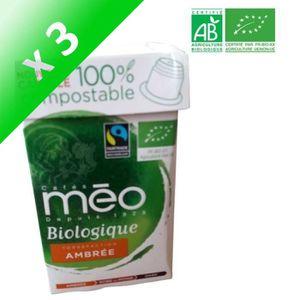 CAFÉ MAX HAVELAAR Café ambré Bio - 10 capsules - 53 g (