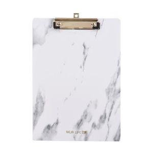 PINCE À LINGE Docooler Dossier en plastique à motif de marbre av