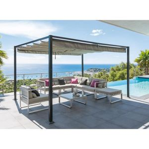 pergola 3x3 achat vente pergola 3x3 pas cher cdiscount. Black Bedroom Furniture Sets. Home Design Ideas