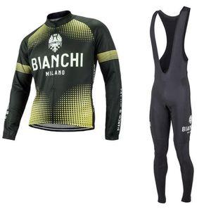 TENUE DE CYCLISME Bianchi équipe Maillot respirant à manches longues
