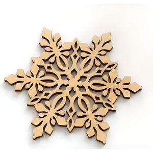 DESSOUS DE PLAT  Lot de 2 dessous de plat en bois motif fantaisie (