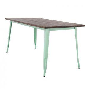 TABLE À MANGER SEULE Table LIX en Bois (160x80) Vert Menthe Bois Foncé