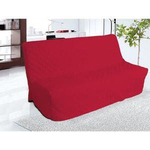 HOUSSE DE CANAPE Housse clic-clac matelassée rouge 140x200 - Terre