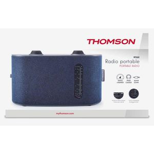 RADIO CD CASSETTE Radio Portable 4 bandes, Thomson couleur bleue RT2