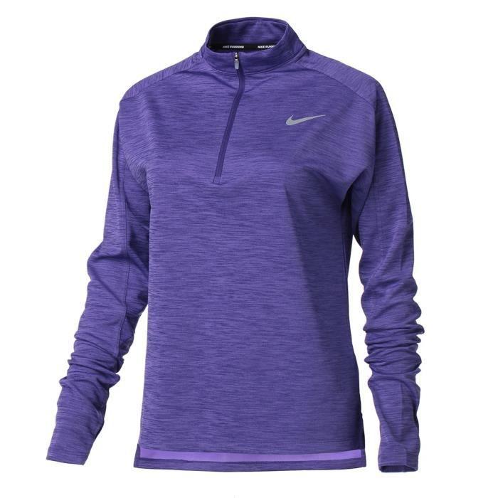 NIKE T-Shirt de running manches longues W NK PACER TOP HZ Femme Violet