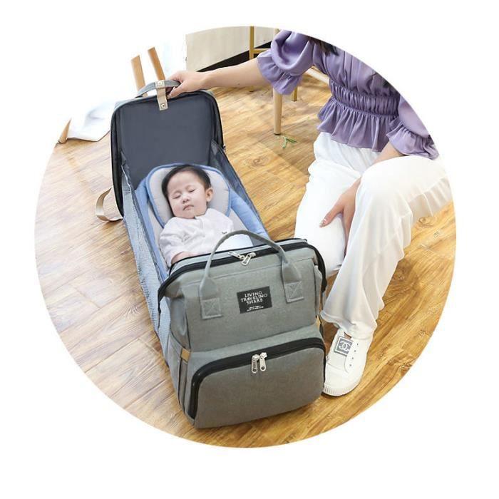 Sac à langer bébé lit sac à dos pour maman sac de maternité pour poussette sac à langer grande capacité sac d'allaitement pour bébé