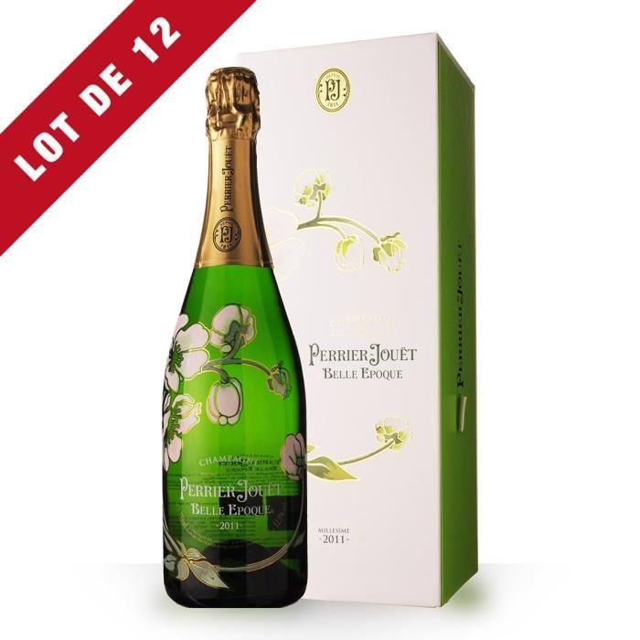 Lot de 12 - Perrier-Jouët Belle Epoque 2011 Brut - Coffret - 12x75cl - Champagne