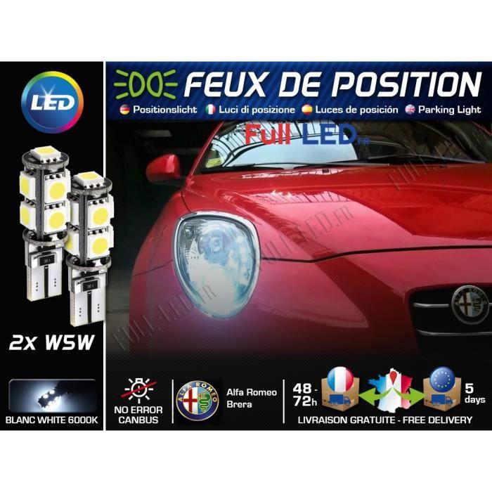 Ampoules Feux de position LED - Alfa Romeo Brera- W5W blanc Xénon