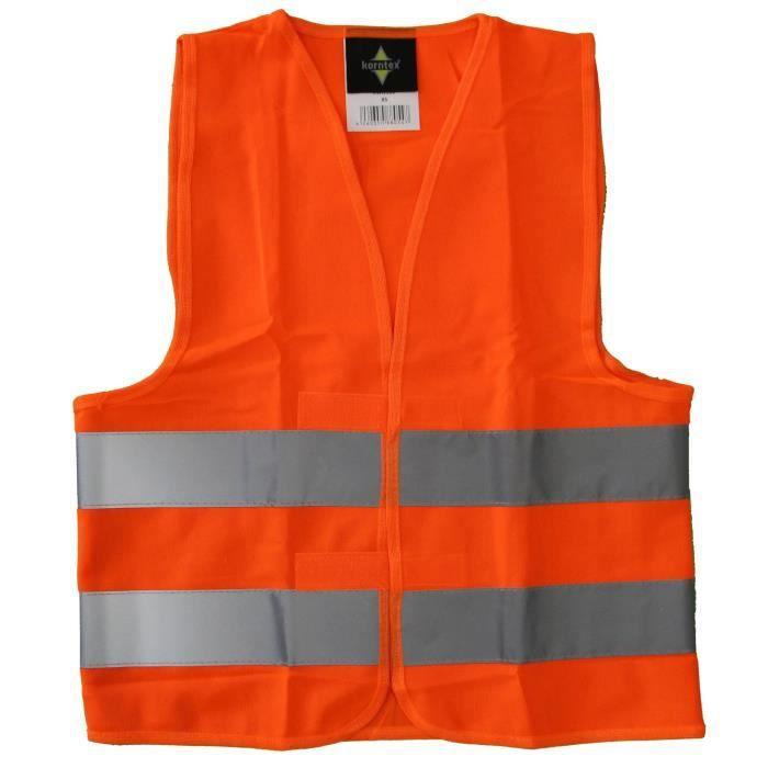 Gilet de sécurité enfant - orange fluo - école - auto - vélo - KK200 - XS