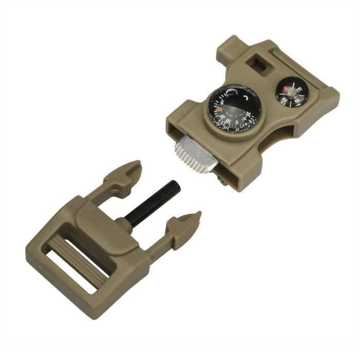 Fournitures de camping Boucle latérale avec boussole sifflet Flint allume-feu Scaper WBB60929032CO_SAN243 FR71416