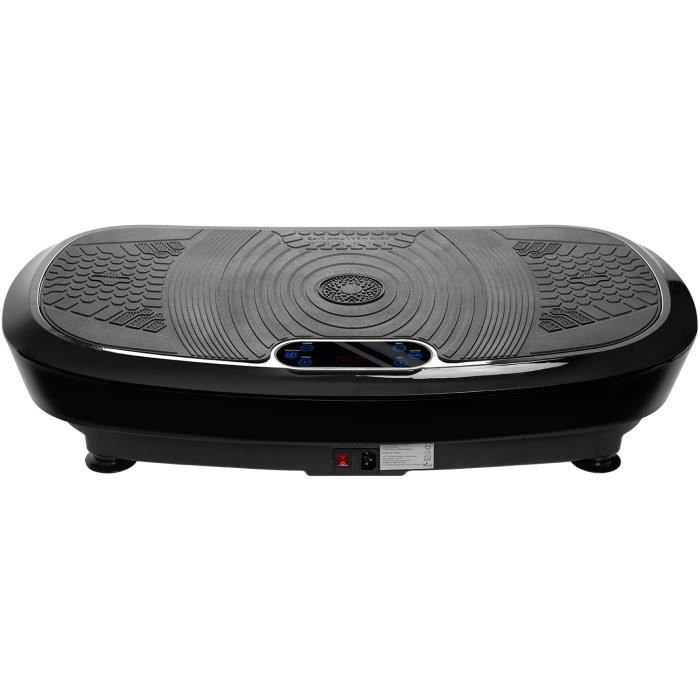 Plateforme plaque vibrante avec 4 Programmes de Fitness-180 niveaux de vitesse-150 kg max-Bluetooth sans fil-Vibration 2D Wipp