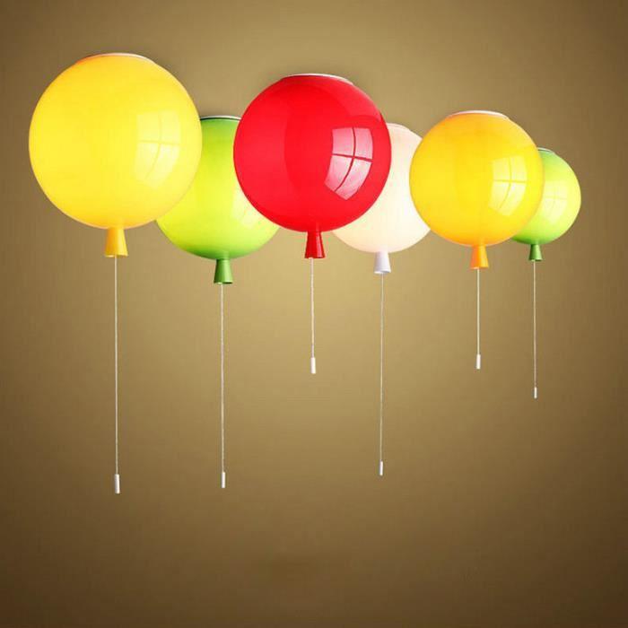 Moderne LED Suspension Lampe Balloon Chambre Plafonnier Décoration Chaude Jaune Diamètre 20cm