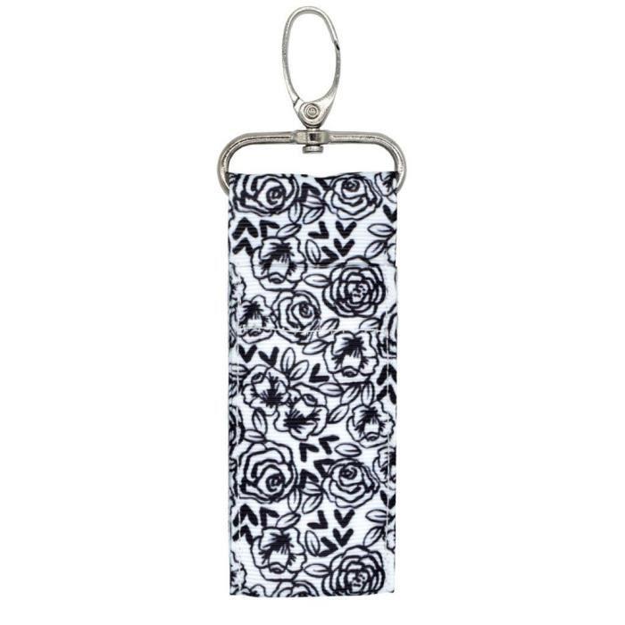 EX9506 1PC femmes léopard lettres étui de rouge à lèvres porte clés baume à lèvres Chapstick pochette porte clés sacs 9 Fun couleu