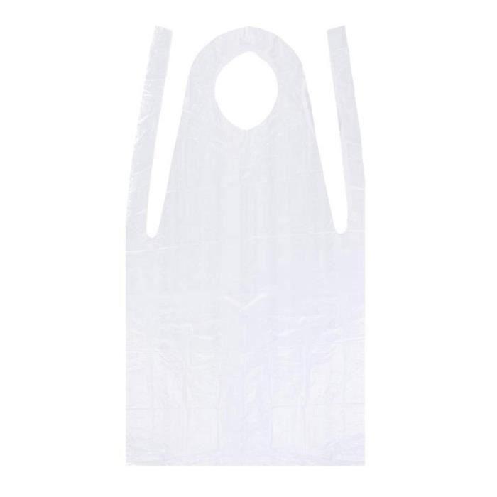 MC1011 100 pièces tabliers jetables Antifouling en plastique imperméable tabliers cuisson accessoire pour peinture activités salis