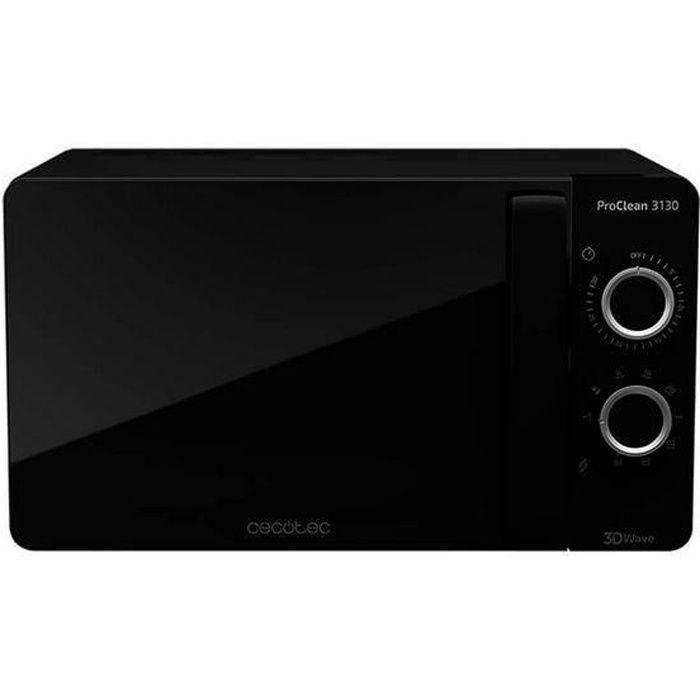 Micro-ondes avec Grill à plateau tournant 3130 20 L 700W Noir - Dimensions 44,5 x 35,5 x 25,5 cm