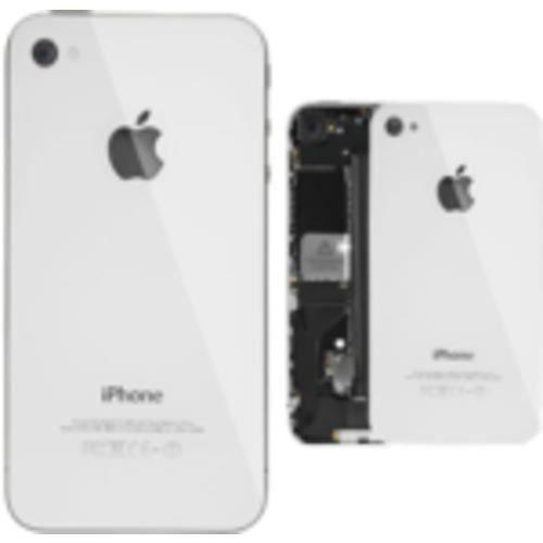 Plaque arrière pour iPhone 4S (Blanc)