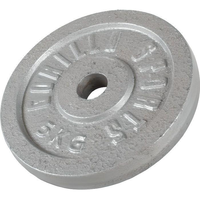 1 x Poids disque en fonte de 5 KG, Ø 31mm d'alésage