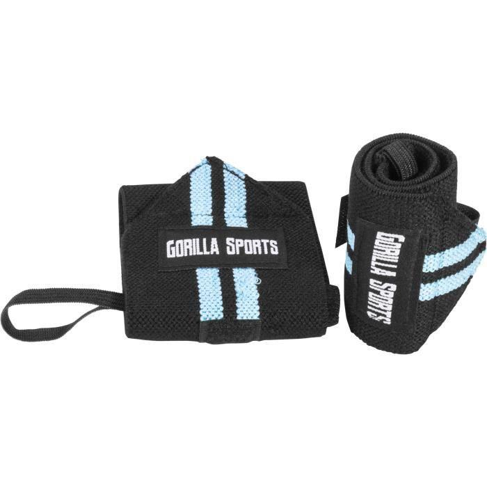 Bande de maintien poignet Noir-Rouge Gorilla Sports Noir Et Bleu