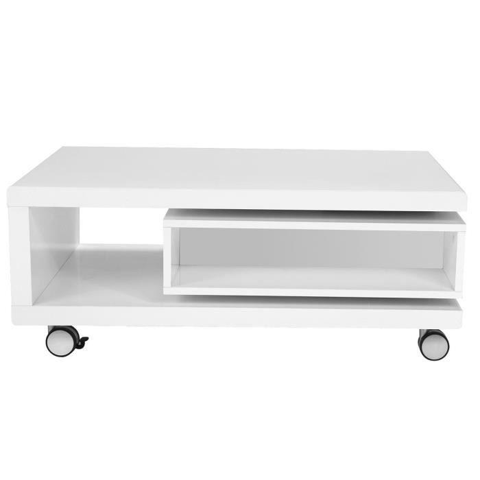 Miliboo - Table basse design laquée blanche LIVO