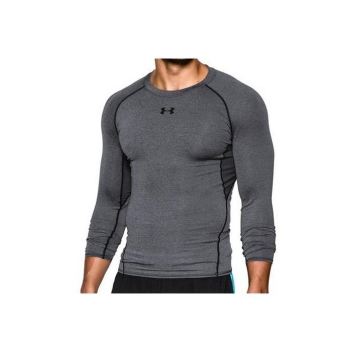 Under Armour Heatgear Compression T-shirt longsleeve 1257471-090 Homme Gris