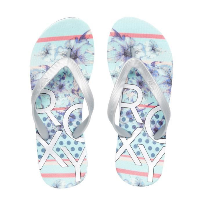 Tongs Femme Roxy Playa II - EVA Soft Sole Argent-Lagoon