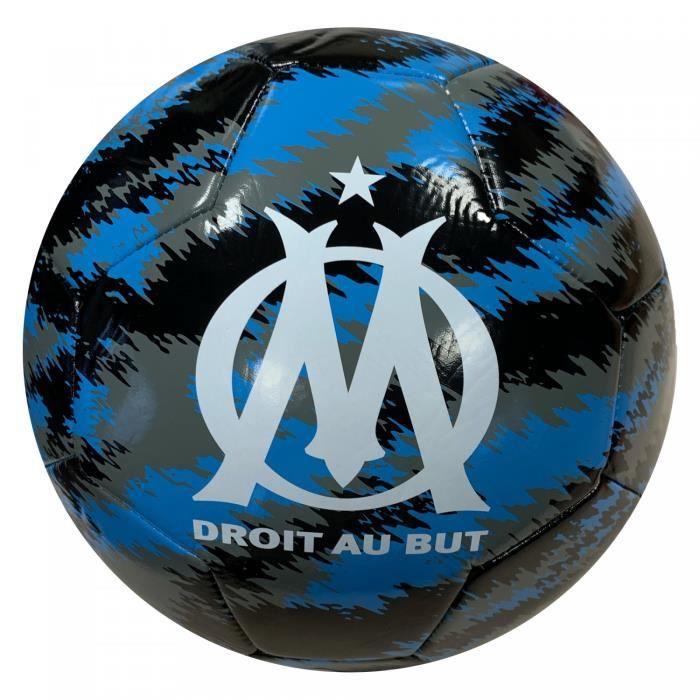 Ballon OM Iconic big cat - noir/bleu azur/blanc - Taille 5