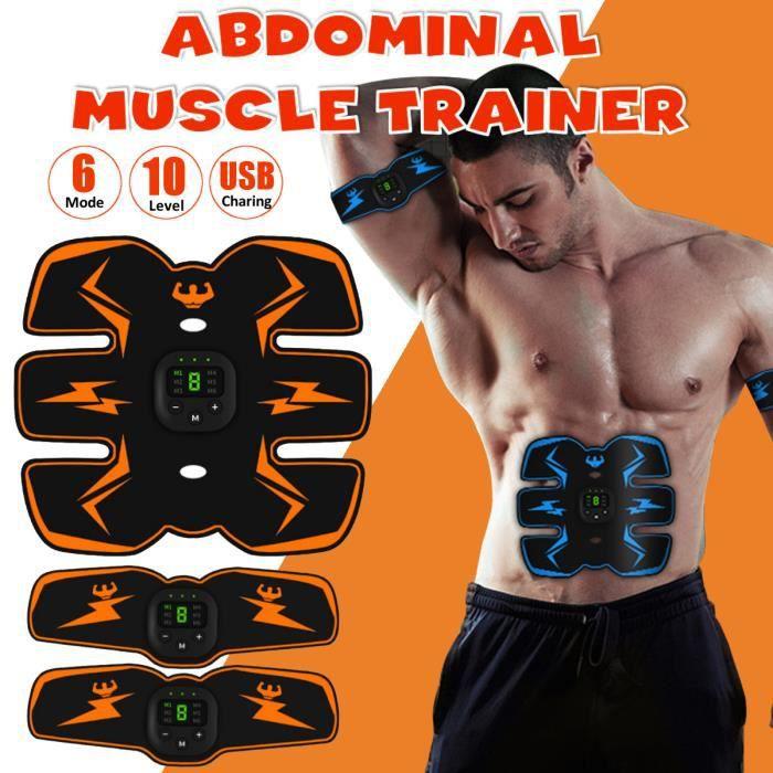 Appareil de Masculation Entraîneur de Muscle Abdominal sans Fil Fitness à Domicile Orange