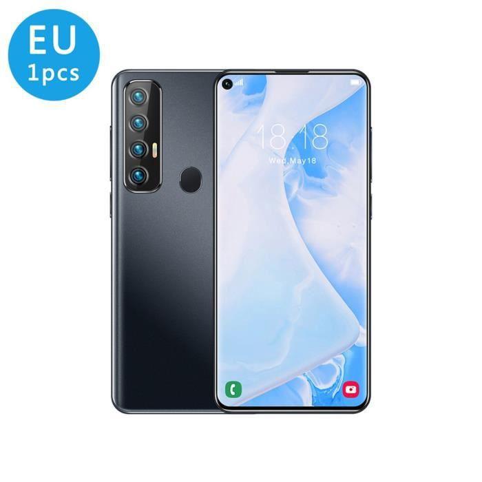 Smartphone grand écran 7.2- 2GB+16GB Dual SIM Déverrouillage par empreinte digitale arrière Noir