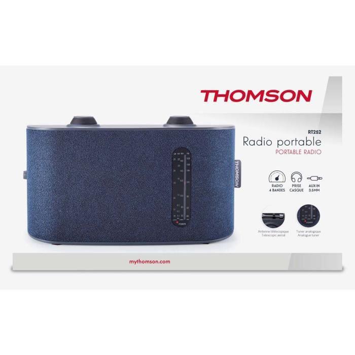 Radio Portable 4 bandes, Thomson couleur bleue RT252