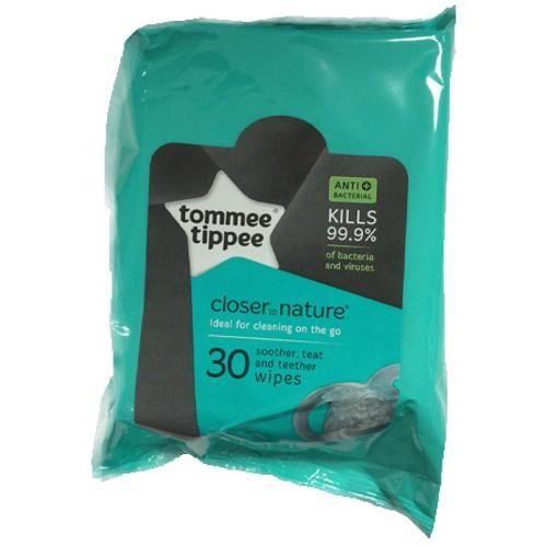 Tommee Tippee 30 Lingettes Biodegradables Pour Tétines Hygiène