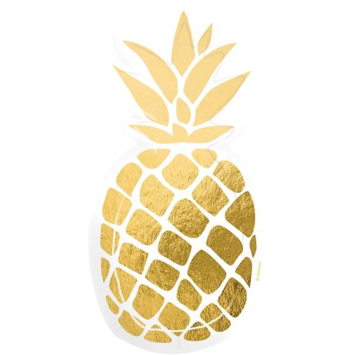 /Lot de 4 Ananas Dessous de Verre/