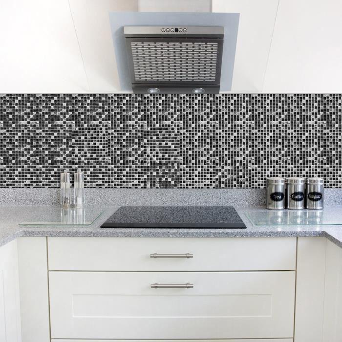 10 sheets Vinyle 12 X 12 blanc Art3d Carrelage mural autocollant pour cuisine 30,5 x 30,5 cm