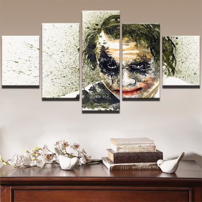 TABLEAU - TOILE Toile tableaux imprimés 5 pièces film Joker images