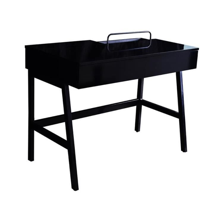 bureau informatique noir brillant myco00920 achat. Black Bedroom Furniture Sets. Home Design Ideas